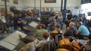 Marc Beyer explaining the importance of care to your motorcycle when preparing it for the riding season.