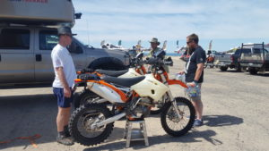Another 2 race participants with their KTMs from Santa Fe, NM. James and David Pierson with CJ Rodden who represents their Sponsor Law Tigers.