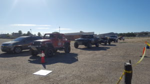 In line for the staggered start of Day 1 of the Sonora Rally 2017