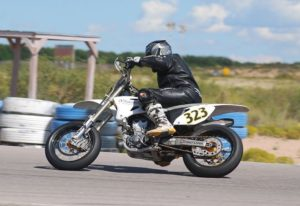 Nicole on her SuperMoto