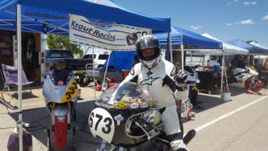 Marc Beyer on his BMW R75 Racer