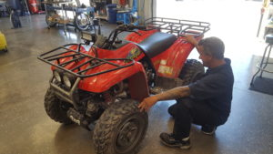 ATV carburetor swap